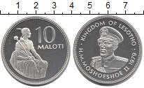 Изображение Монеты Лесото 10 малоти 1979 Серебро Proof