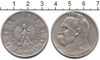 Изображение Монеты Польша 10 злотых 1935 Серебро XF Юзеф  Пилсудский.