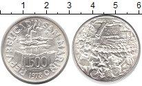 Монета Сан-Марино 500 лир Серебро 1978 UNC