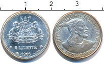 Изображение Монеты Свазиленд 5 центов 1966 Серебро XF Король Мошошо. Прово