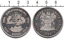 Изображение Монеты ЮАР 1 ранд 1986 Серебро XF 100 - летие  Йоханне