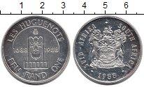 Изображение Монеты ЮАР 1 ранд 1988 Серебро XF 300 - летие  гугенот