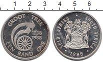 Изображение Монеты ЮАР 1 ранд 1988 Серебро XF 150 - летие  GROOT
