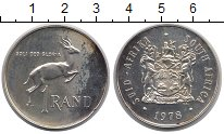 Изображение Монеты ЮАР 1 ранд 1978 Серебро XF Спрингбок - Антилопа