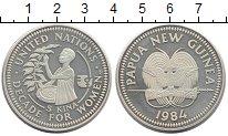 Изображение Монеты Папуа-Новая Гвинея 5 кин 1984 Серебро UNC Декада  женщин.