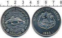 Изображение Монеты Либерия 2 доллара 1983 Медно-никель UNC