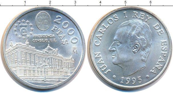 Картинка Монеты Испания 2.000 песет Серебро 1995