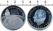 Изображение Монеты Испания 1000 песет 1996 Серебро UNC- XXVI летние Олимпийс