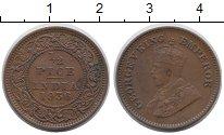Изображение Монеты Индия 1/2 пайса 1936 Медь XF