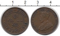 Изображение Монеты Гонконг 1 цент 1931 Медь XF