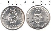 Изображение Монеты Италия 500 лир 1982 Серебро UNC Галилео  Галилей.