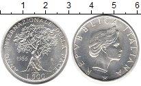 Изображение Монеты Италия 500 лир 1986 Серебро UNC