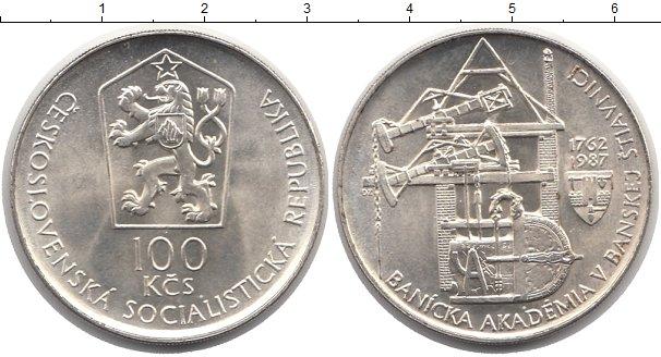 Картинка Монеты Чехословакия 100 крон Серебро 1987