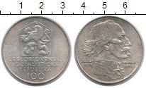 Изображение Монеты Чехословакия 100 крон 1971 Серебро XF Мэнис