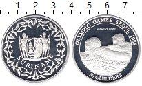 Изображение Монеты Суринам 50 гульденов 1988 Серебро Proof- Олимпийские игры в С