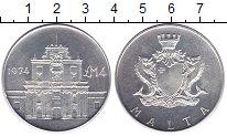 Изображение Монеты Мальта 4 фунта 1974 Серебро Proof-