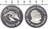 Изображение Монеты Тонга 1 паанга 1986 Серебро Proof-