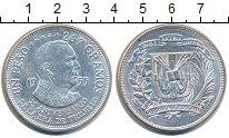 Изображение Монеты Доминиканская республика 1 песо 1955 Серебро UNC-