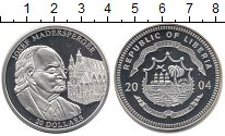 Изображение Монеты Либерия 20 долларов 2004 Серебро Proof-