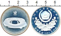Изображение Монеты Южная Корея 5000 вон 1987 Серебро Proof- Олимпиада 88. Сеул.