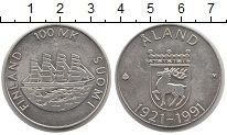 Изображение Монеты Финляндия 100 марок 1991 Серебро UNC-