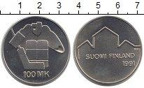 Изображение Монеты Финляндия 100 марок 1991 Серебро Proof-