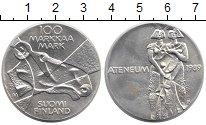 Изображение Монеты Финляндия 100 марок 1989 Серебро UNC- Мемориал