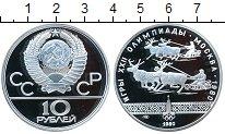 Изображение Монеты СССР 10 рублей 1980 Серебро Proof- Олимпиада-80. Гонки