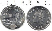 Изображение Монеты Испания 2000 песет 1996 Серебро UNC-