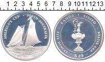 Изображение Монеты Самоа 25 долларов 1987 Серебро Proof Кубок  Америки.