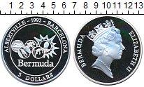 Изображение Монеты Великобритания Бермудские острова 5 долларов 1992 Серебро Proof