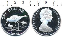 Изображение Монеты Новая Зеландия 1 доллар 1985 Серебро Proof