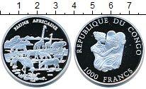 Изображение Монеты Конго 1000 франков 2002 Серебро Proof