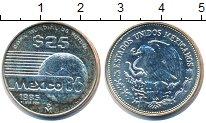 Изображение Монеты Мексика 25 песо 1985 Серебро XF Чемпионат мира по фу