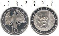Изображение Монеты Германия ФРГ 10 марок 2000 Серебро Proof