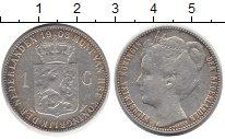 Изображение Монеты Нидерланды 1 гульден 1908 Серебро VF