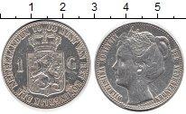 Изображение Монеты Нидерланды 1 гульден 1908 Серебро XF