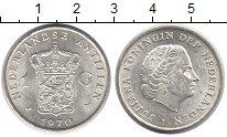 Изображение Монеты Антильские острова 1 гульден 1970 Серебро UNC-