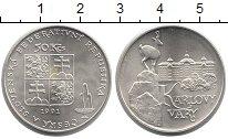 Изображение Монеты Чехословакия 50 крон 1991 Серебро UNC- Карловы Вары