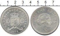 Изображение Монеты Антильские острова 10 гульденов 1978 Серебро UNC- Нидерландские Антилы