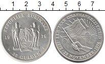 Изображение Монеты Суринам 10 гульденов 1976 Серебро UNC- Год независимости