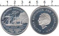 Изображение Монеты Антильские острова 25 гульденов 1987 Серебро UNC Парусник