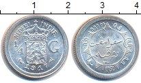 Изображение Монеты Нидерландская Индия 1/4 гульдена 1917 Серебро XF Колония Нидерландов