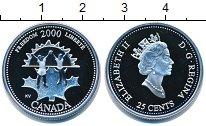 Изображение Монеты Канада 25 центов 2000 Серебро Proof