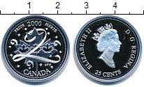 Изображение Монеты Канада 25 центов 2000 Серебро Proof Елизавета II. Миллен