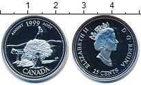 Изображение Монеты Канада 25 центов 1999 Серебро Proof