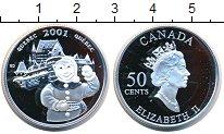 Изображение Монеты Канада 50 центов 2001 Серебро Proof Квебек