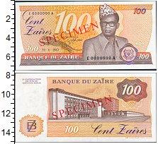 Изображение Банкноты Конго Заир 100 заир 1983  XF+