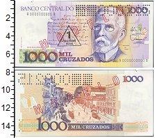 Изображение Банкноты Бразилия 1 крузадо 1989  XF