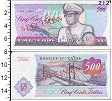 Изображение Банкноты Конго Заир 500 заир 1984  XF+
